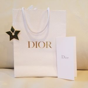 Authentic Dior Gift Bag with Star and Envelope